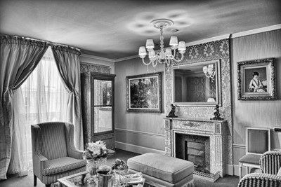 The parlor section of a suite at the ____ Hotel in Barcelona Spain.