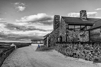 The Craigielaw clubhouse, Scotland.