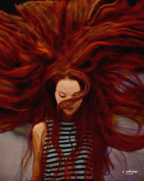 hair explosion.
