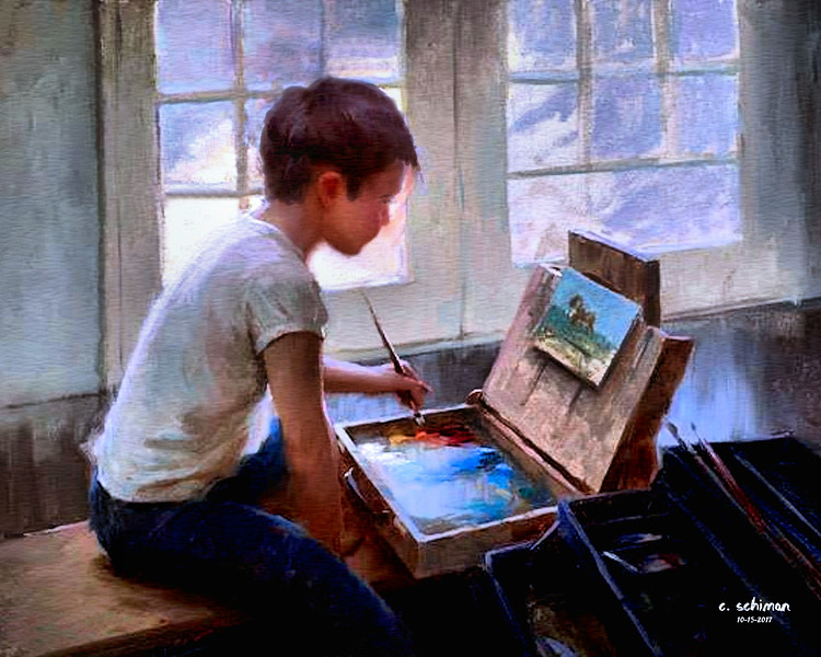 Portrait of a young artist.