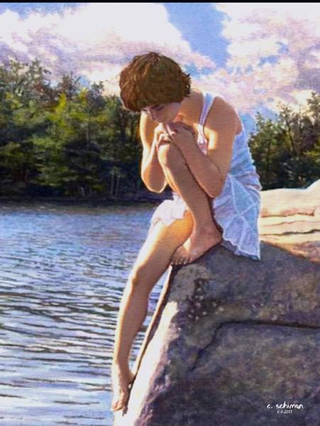 Ruminating at the lake.
