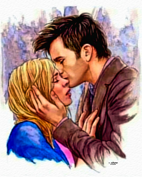 Tenth Doctor and Rose.