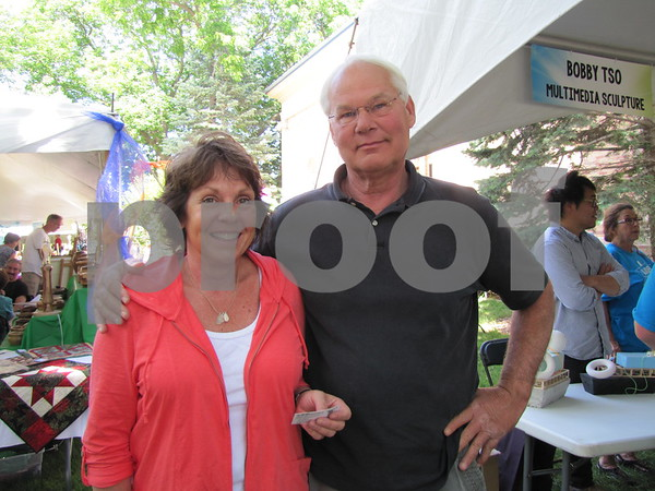 Beth and Dave Knipp of Waterloo attended the Blanden Arts Fest.  Their son Ryan Knipp was displaying his art at the festival.