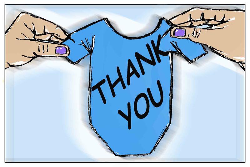 Thank You Card-Baby Boy