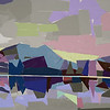 Early Evening in Collage of Pastel Colors
