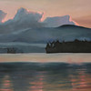 Blue Mountain Lake Early Evening (Oil on Canvas)