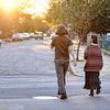 Abalyn and Imp, walking.