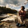 Imp writes at the Blackstone river.