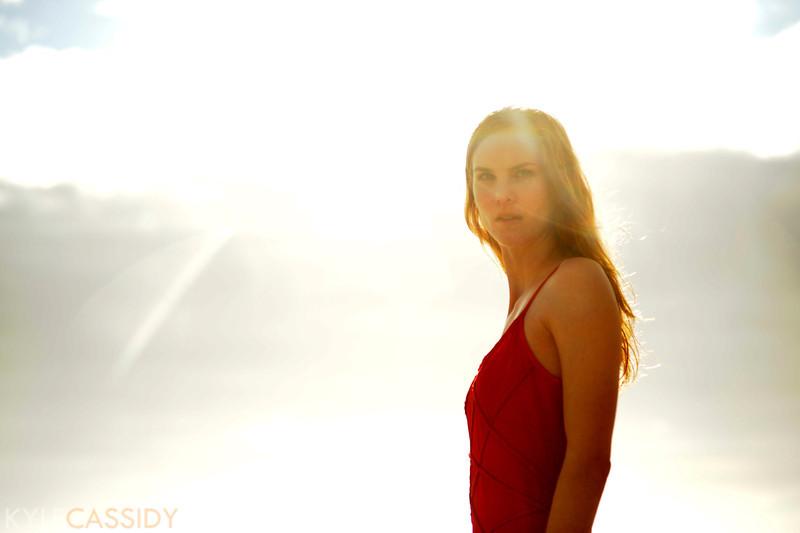 Eva in the sun.