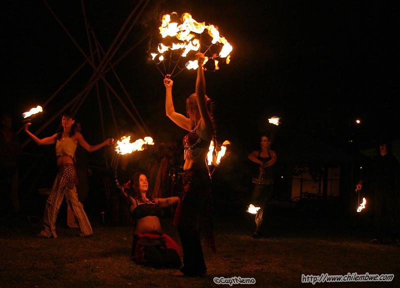 Fire  dancers , Brick house , gallery Sacramento ,CA.