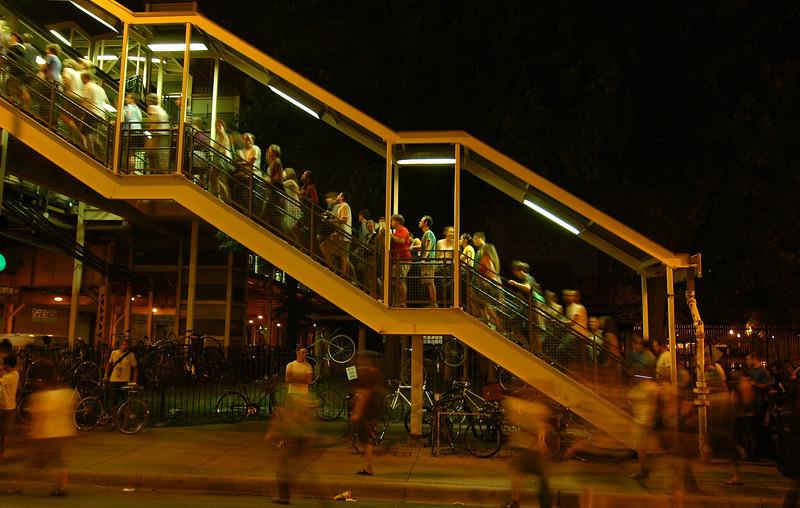 Ashland-Lake El station, Chicago, July 2007