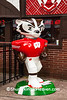 """1st and 10"" Bucky Statue, Madison, Wisconsin"