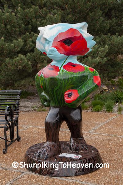 """Grow"" Bucky Statue, Madison, Wisconsin"