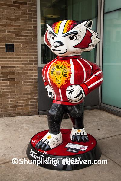 """Bright Idea Bucky"" Statue, Madison, Wisconsin"