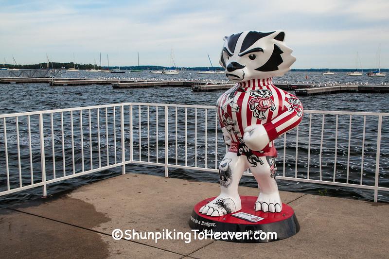 """Retro Bucky"" Statue, Madison, Wisconsin"