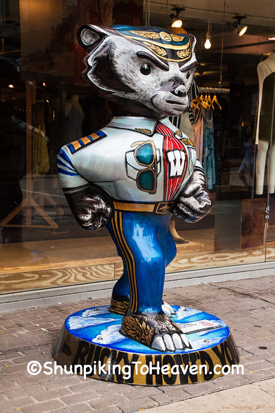 """""""Bucky How'd You Get So Fly"""" Statue, Madison, Wisconsin"""
