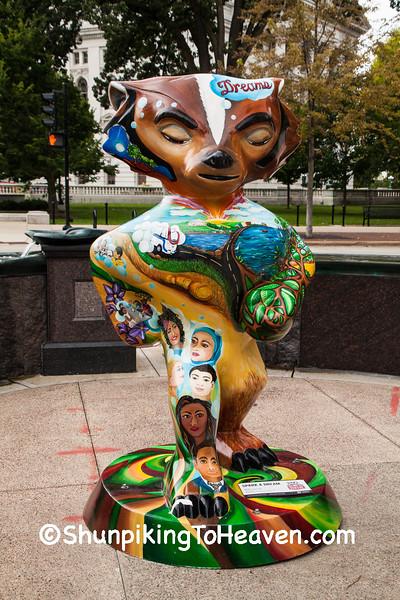 """Spark a Dream"" Bucky Statue, Madison, Wisconsin"