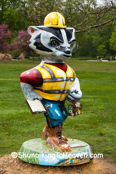"""Work Safe Bucky"" Statue, Middleton, Wisconsin"