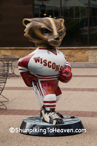 """Pucky"" Bucky Statue, Madison, Wisconsin"