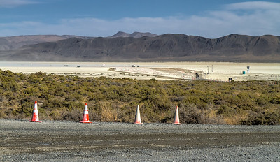 18006 The 8 mile playa access road is the main public entrance for Black Rock City.
