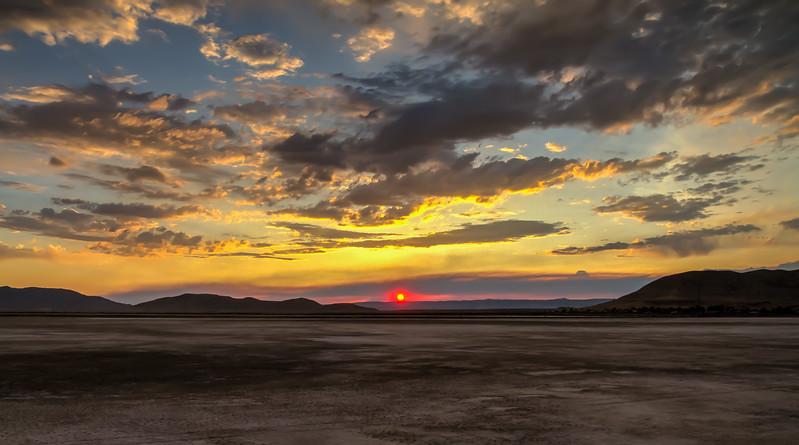 17008 Burning Man sunset, Black Rock Desert, Gerlach, Nevada