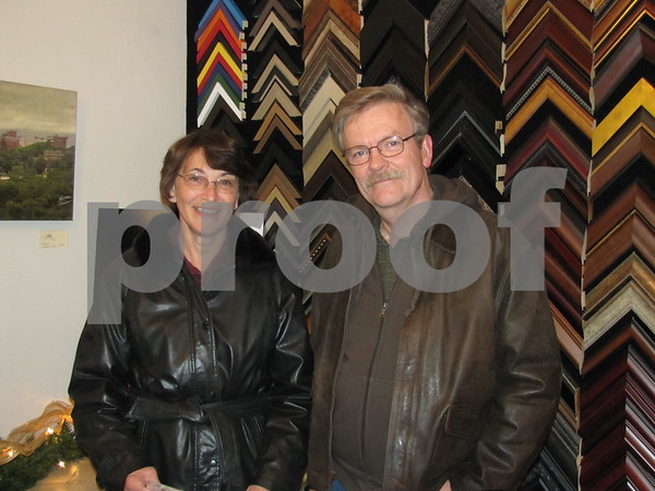 Georgeann and Bruce Morrison were back visiting Fort Dodge and attended the open house put on by artist Maureen Powers.