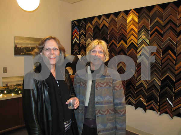 Paula O'Connor and Becky O'Brien Buckroyd Studio's open house.