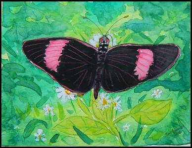 ADOPTED/Trinidad & Tobago - Postman, Trinidad, 7.5x5.5inch, 190x140mm, watercolor, acrylic, color pencil & ink, may 12, 2018. Adopted by Theodore Ferguson, Maracas- St Joseph, Trinidad-Tobago.