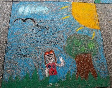 """Let There Be Peace On Earth,"" Chalk 4PEACE, 7-15-05"