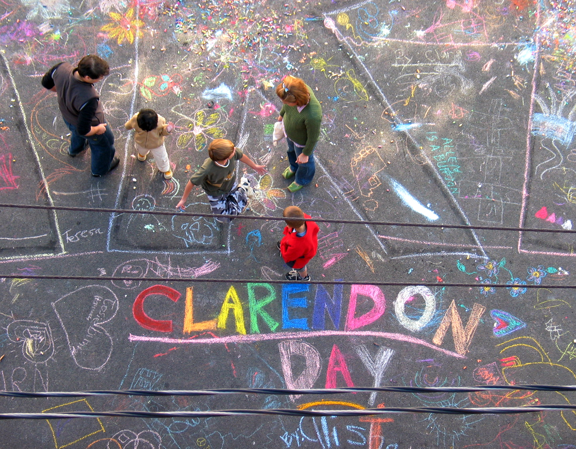 Clarendon Day, Oct. 21, 2006 Chalk Painting Final Day of the Museum of Modern ARF Arlington, VA