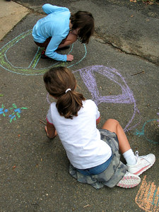 "CHALK4PEACE 2006 Arlington, VA Ashlawn Elementary School  ""Artists Working On Peace"" photo: John Aaron"