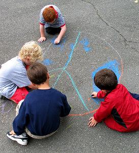 CHALK4PEACE 2006 Arlington, VA Ashlawn Elementary School  Ashlawn artists learn about peace... photo: John Aaron