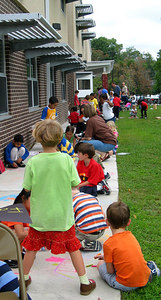 CHALK4PEACE 2006 Arlington, VA Glebe Elementary School Glebe had more than 350 artists for CHALK4PEACE. photo: John Aaron