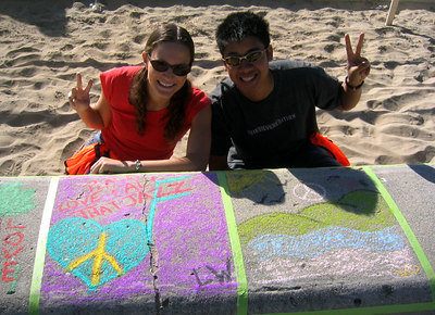 "CHALK4PEACE 2006 SANTA BARBARA, CA Organized by ARTS ALIVE Creativity Center ""Volunteers"" photo: Elizabeth Werhane"