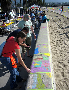 "CHALK4PEACE 2006 SANTA BARBARA, CA Organized by ARTS ALIVE Creativity Center ""The Wall"" photo:"