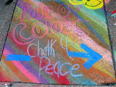 "CHALK4PEACE 2006 Washington, DC Dr. Martin Luther King, Jr. Memorial Library ""Chalk 4 Peace on the Plaza"""