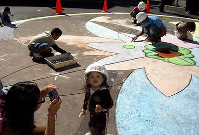 The littlest artist... CHALK4PEACE, downtown Vallejo, CA sponsored by the ART Department  and the Vallejo Artists Guild. Photo: copyright The ART Department