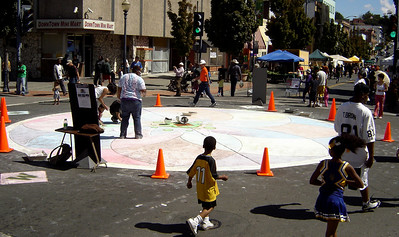 CHALK4PEACE, downtown Vallejo, CA sponsored by the ART Department  and the Vallejo Artists Guild. Photo: copyright The ART Department