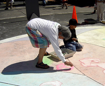 For yound artists of ALL Ages... CHALK4PEACE, downtown Vallejo, CA sponsored by the ART Department  and the Vallejo Artists Guild. Photo: copyright The ART Department