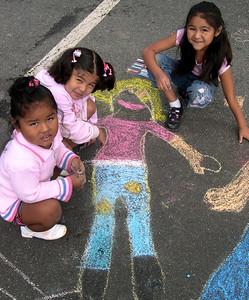 CHALK4PEACE 2007 Arlington, VA  Barcroft Elementary School  photo: Alissa Karton
