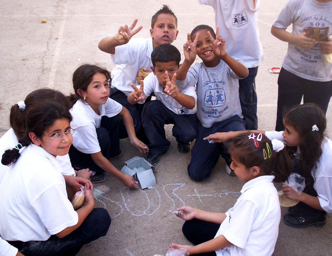 CHALK4PEACE 2007- Bethlehem, West Bank  SOS Herman Gmeiner School  photo: Sarah Jayne Bleiweis