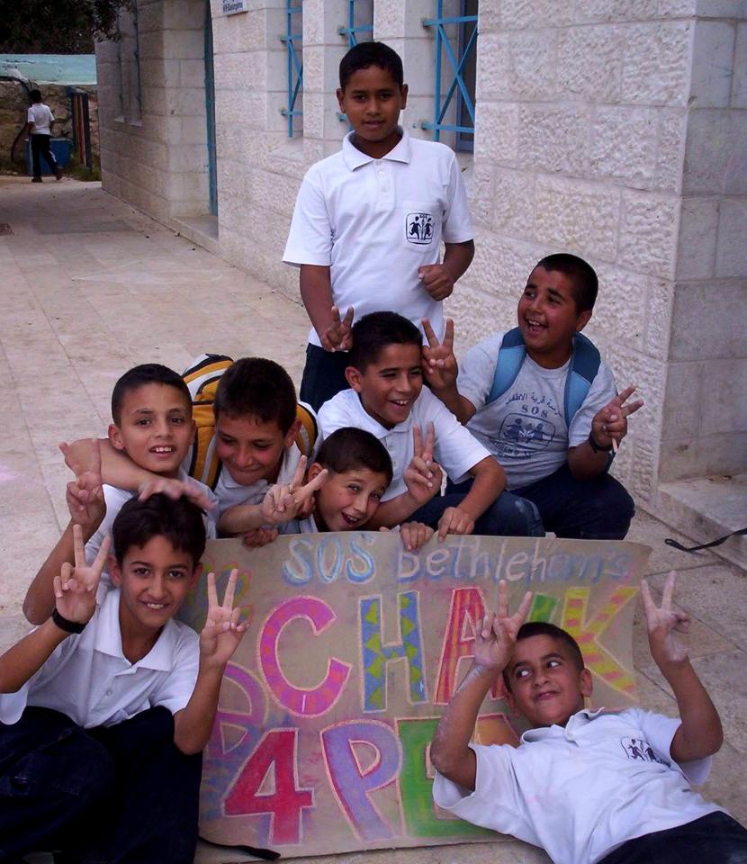 CHALK4PEACE 2007- Bethlehem,West Bank  SOS Herman Gmeiner School  photo: Sarah Jayne Bleiweis