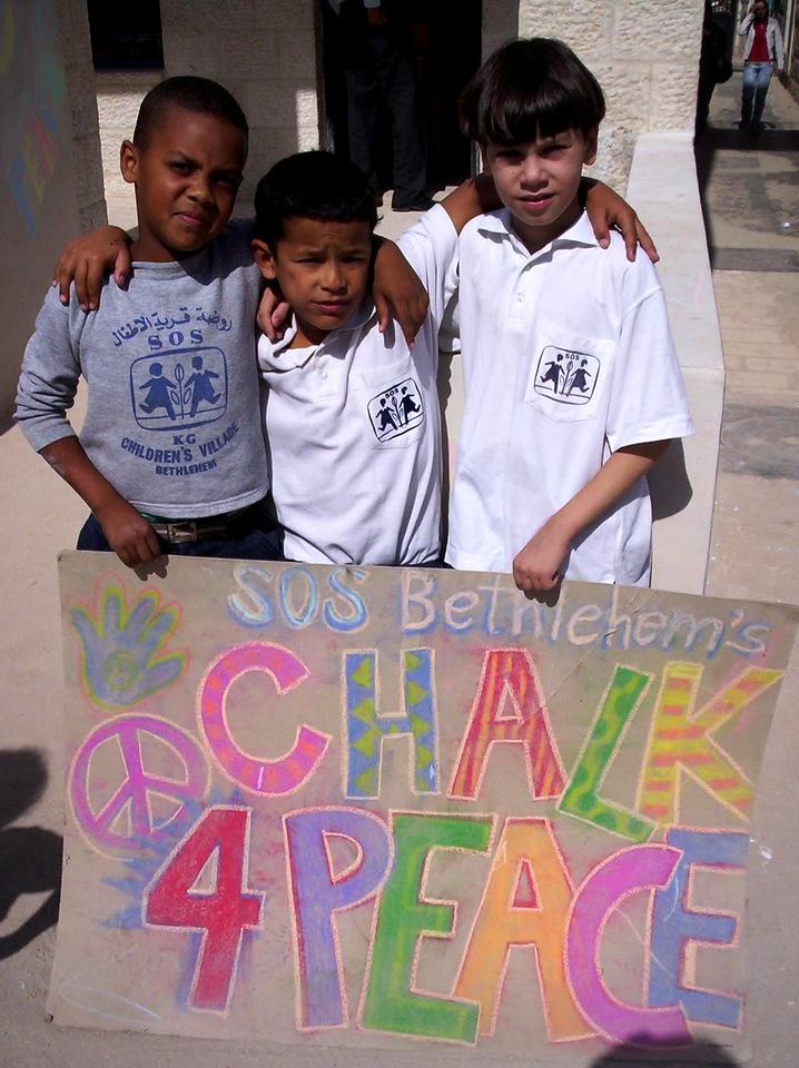 CHALK4PEACE 2007- Bethlehem, West Bank  SOS Herman Gmeiner School  photo: Sarah Jayne Bleiweis