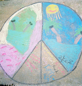CHALK4PEACE 2007  The Gooden School  Sierra Madre, CA   photo: David Kaufman