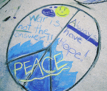 CHALK4PEACE 2007  The Gooden School  Sierra Madre, CA   photo: Mr. Kaufman