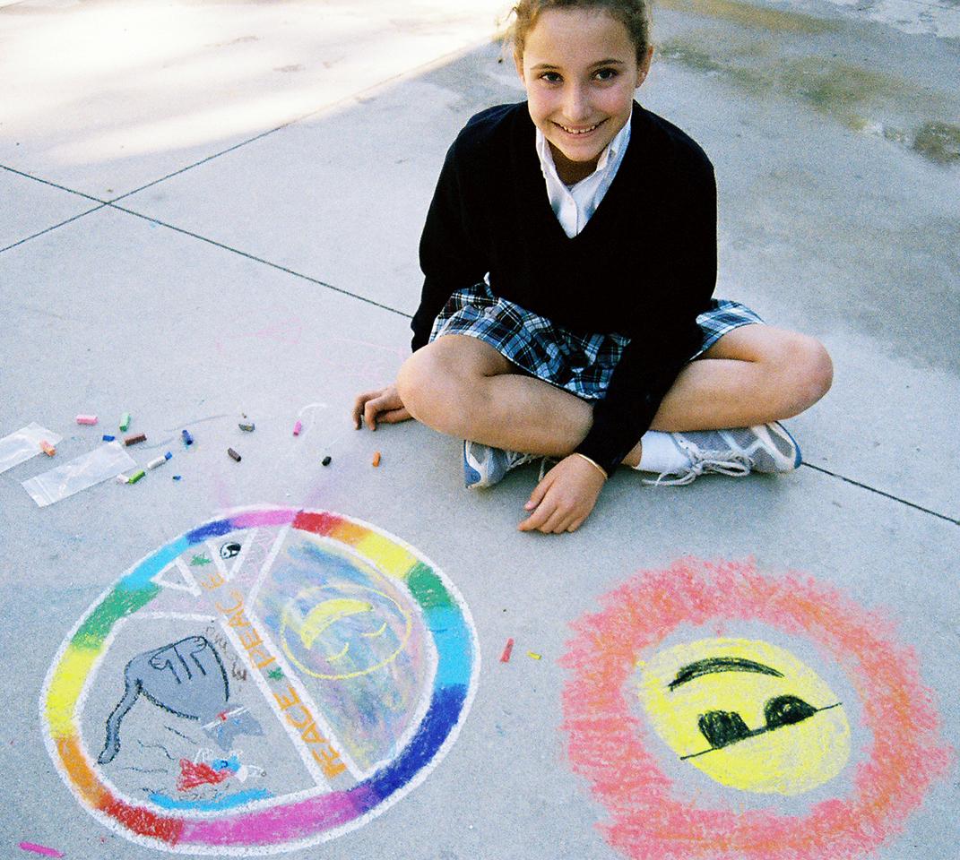 CHALK4PEACE 2007  The Gooden School  Sierra Madre, CA  photo: David Kaufman