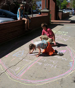 The organization, Mothers Acting Up, CHALK4PEACE event,  International Day of Peace, Sept. 21, 2007 Their efforts were featured in the Boulder Daily Camera, 9/22/07 Pearl Street, Boulder, Colorado photo: Mothers Acting Up