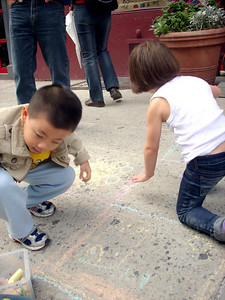 he Children's Museum of the Arts of New York City It's now happened on the sidewalks of New York! Next stop: Fill Central Park! photo: