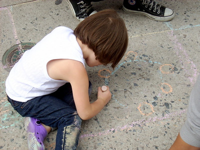 The Children's Museum of the Arts of New York City It's now happened on the sidewalks of New York! Next stop: Fill Central Park! photo: