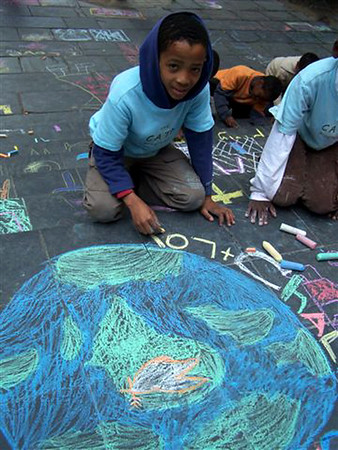 Community ARTS Therapy programme, St. George's Cathedral, S. Africa CHALK4PEACE 2007